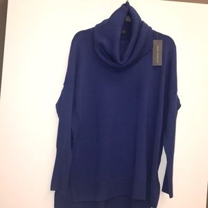 French Connection Blue turtleneck sweater